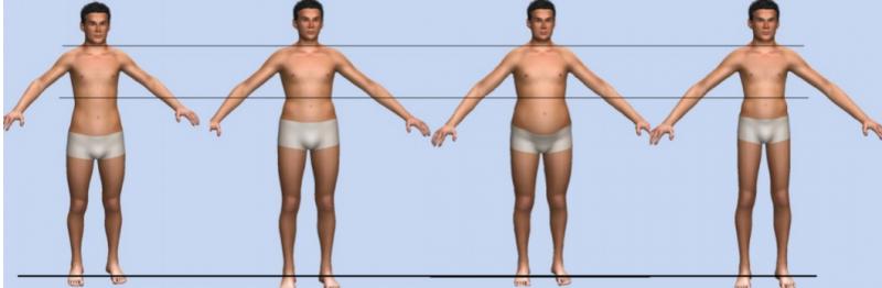 Hệ thống cỡ số kích thước cơ thể người nam