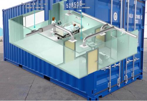 Phòng cách ly áp lực âm từ thùng container