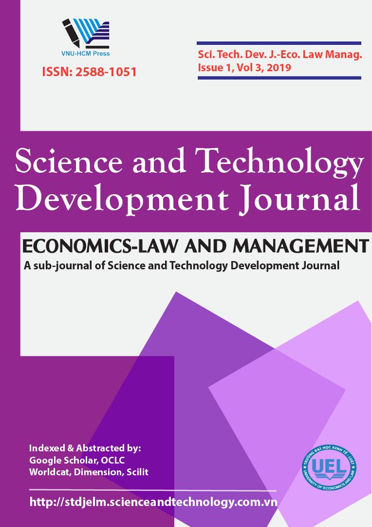 Tạp chí Phát triển Khoa học và Công nghệ - Khoa học Kinh tế - Luật và Khoa học Quản lý