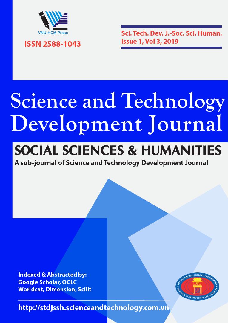 Tạp chí Phát triển Khoa học và Công nghệ - Khoa học Xã hội và Nhân văn