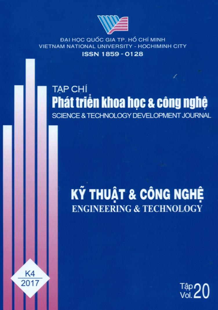 Tạp chí Phát triển Khoa học và Công nghệ - Kỹ thuật và Công nghệ